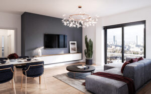 Image inside one of Amplify's penthouse apartments. These are based in Salford Quays.